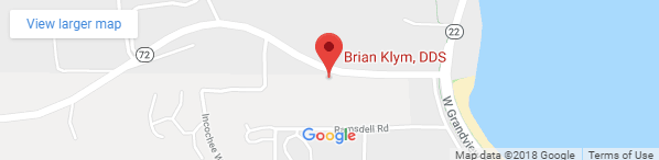 Map location of Brian Klym DDS office